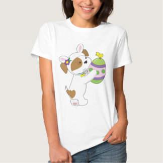 Cute Puppy Easter Egg Tee Shirts