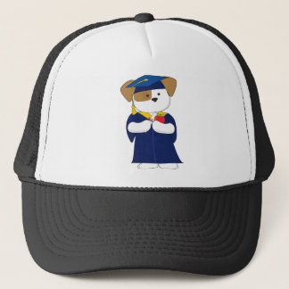 Cute Puppy Graduation Trucker Hat