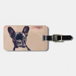 cute puppy luggage tag