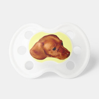 Cute Puppy Pacifier Dachshund Baby Stuff