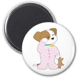 Cute Puppy Pajamas 6 Cm Round Magnet