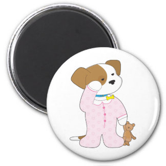 Cute Puppy Pajamas Fridge Magnets