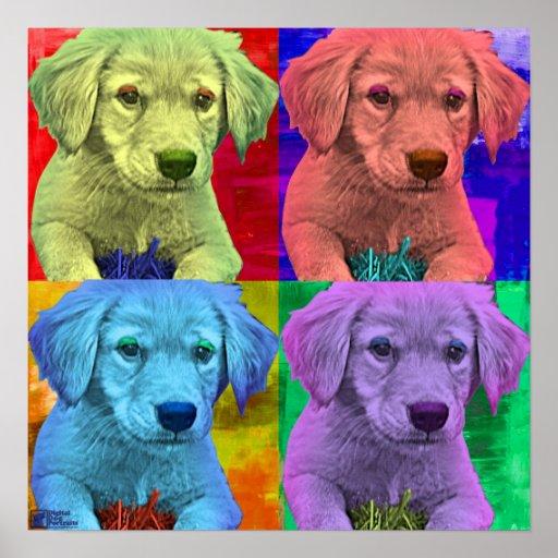 Cute Puppy Pop Art style Poster