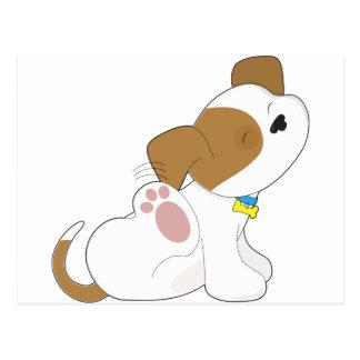 Cute Puppy Scratching Postcard