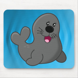 Cute puppy seal mouse mat