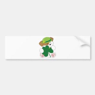 Cute Puppy St Pats Bumper Stickers