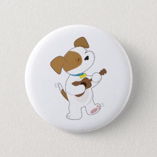 Cute Puppy Ukulele 6 Cm Round Badge