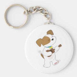 Cute Puppy Ukulele Key Ring