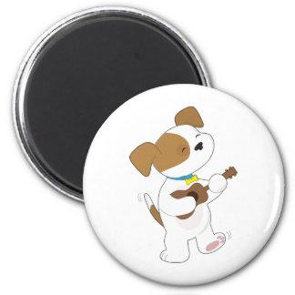 Cute Puppy Ukulele Magnet