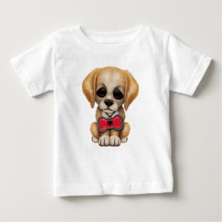 Cute Puppy with Albanian Flag Pet Tag Baby T-Shirt