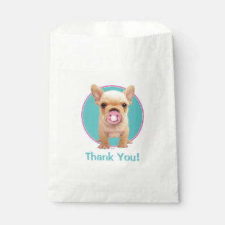 Cute Puppy with Pacifier Favour Bags