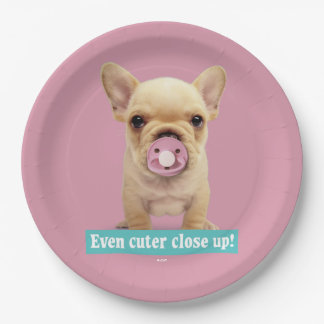 Cute Puppy with Pacifier Paper Plate