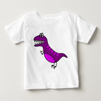 Cute purple angry cartoon dinosaur baby T-Shirt