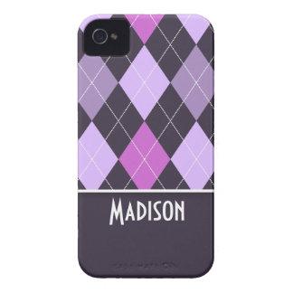 Cute Purple Argyle iPhone 4 Case