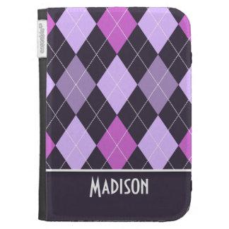 Cute Purple Argyle Kindle Cover