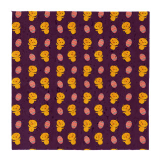 Cute purple baby chick easter pattern drink coaster