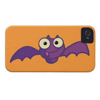 Cute Purple Bat iPhone 4 Case-Mate Case