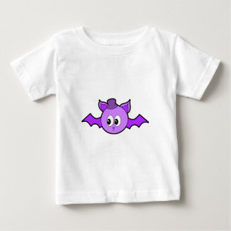 Cute Purple Bat with Hat. Baby T-Shirt