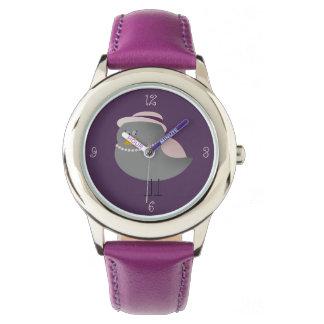 Cute Purple Bird Old Fashion Lady Adorable Girly Wrist Watches