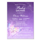 Cute Purple Butterfly Baby Shower Templates