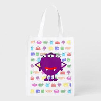 Cute Purple Cartoon Monster