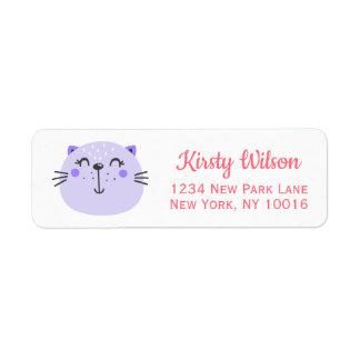 Cute Purple Cat | Baby Shower