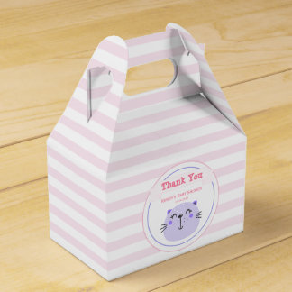 Cute Purple Cat | Baby Shower 'Thank You' Favour Box