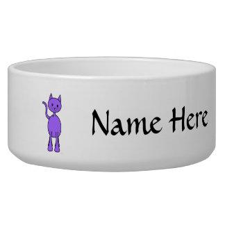 Cute Purple Cat Cartoon.