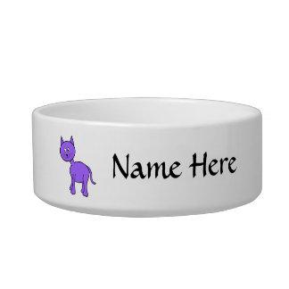 Cute Purple Cat Cartoon. Bowl