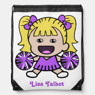Cute Purple Cheerleader Backpack