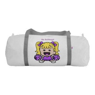Cute Purple Cheerleader Duffel Bag Gym Duffel Bag