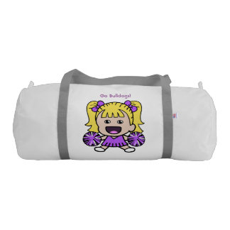 Cute Purple Cheerleader Duffel Bag Gym Duffel Bag