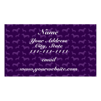 Cute purple dachshund pattern pack of standard business cards