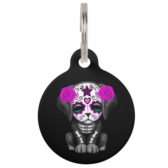 Cute Purple Day of the Dead Puppy Dog