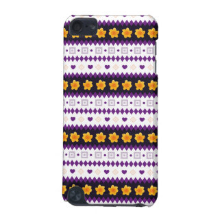 Cute purple Design with tiny Hearts and Flowers iPod Touch (5th Generation) Cases