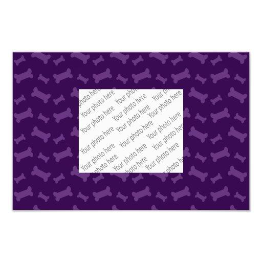 Cute purple dog bones pattern art photo
