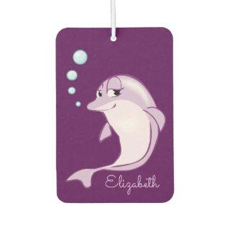 Cute Purple Dolphin Personalized Car Air Freshener