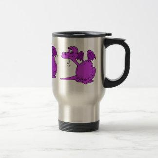 Cute Purple Dragon Baby Stainless Steel Travel Mug