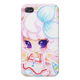 Cute purple eyed girl cases for iPhone 4