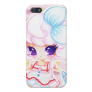 Cute purple eyed girl iPhone 5/5S case