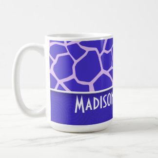 Cute Purple Giraffe Pattern Coffee Mugs