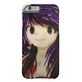 Cute purple hair anime girl phone case barely there iPhone 6 case