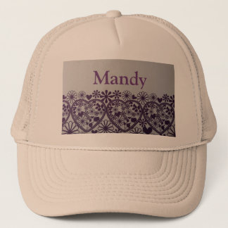 cute purple hearts and little flower  Mandy hats