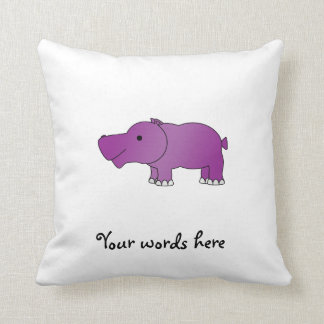Cute purple hippo cushion