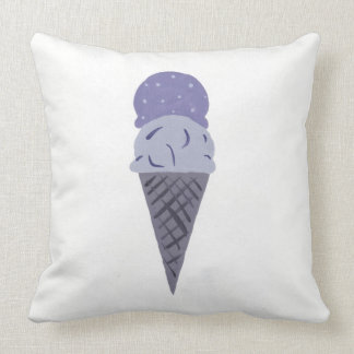 "Cute Purple Ice Cream Cone Pillow ""Life is Sweet"""