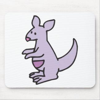cute purple kangaroo mouse mat