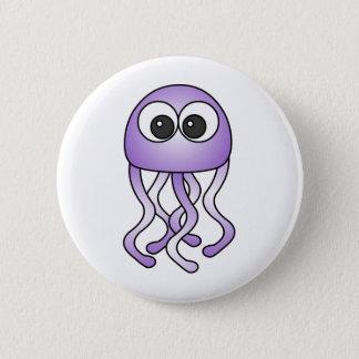 Cute Purple Kawaii Jellyfish Button