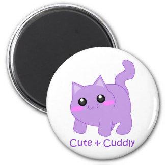 cute purple kitten magnets
