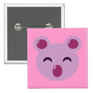 Cute Purple Koala Bear 15 Cm Square Badge