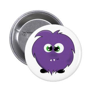 Cute Purple Monster 6 Cm Round Badge